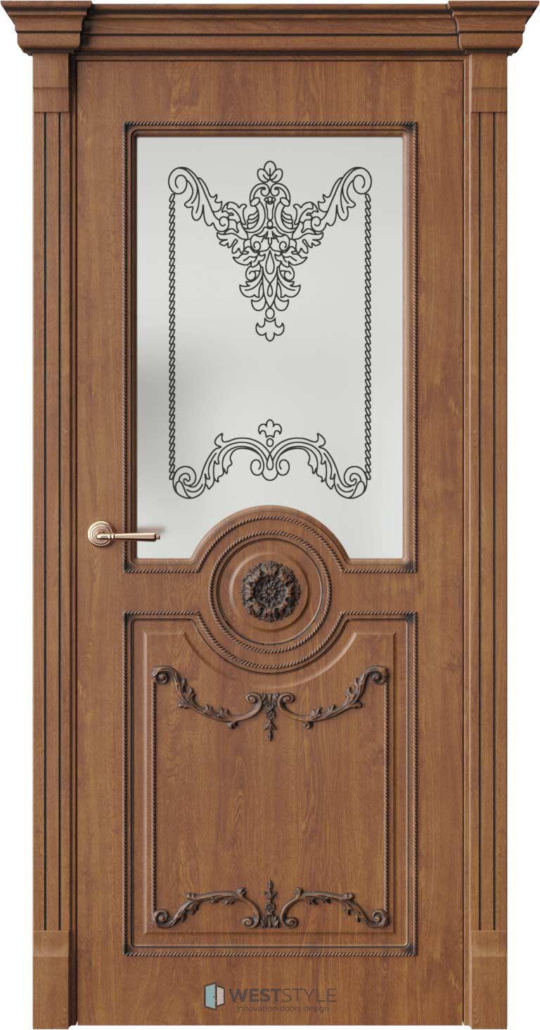 Межкомнатная дверь Межкомнатная дверь Bogacho Андреа лайт Золотой дуб стекло