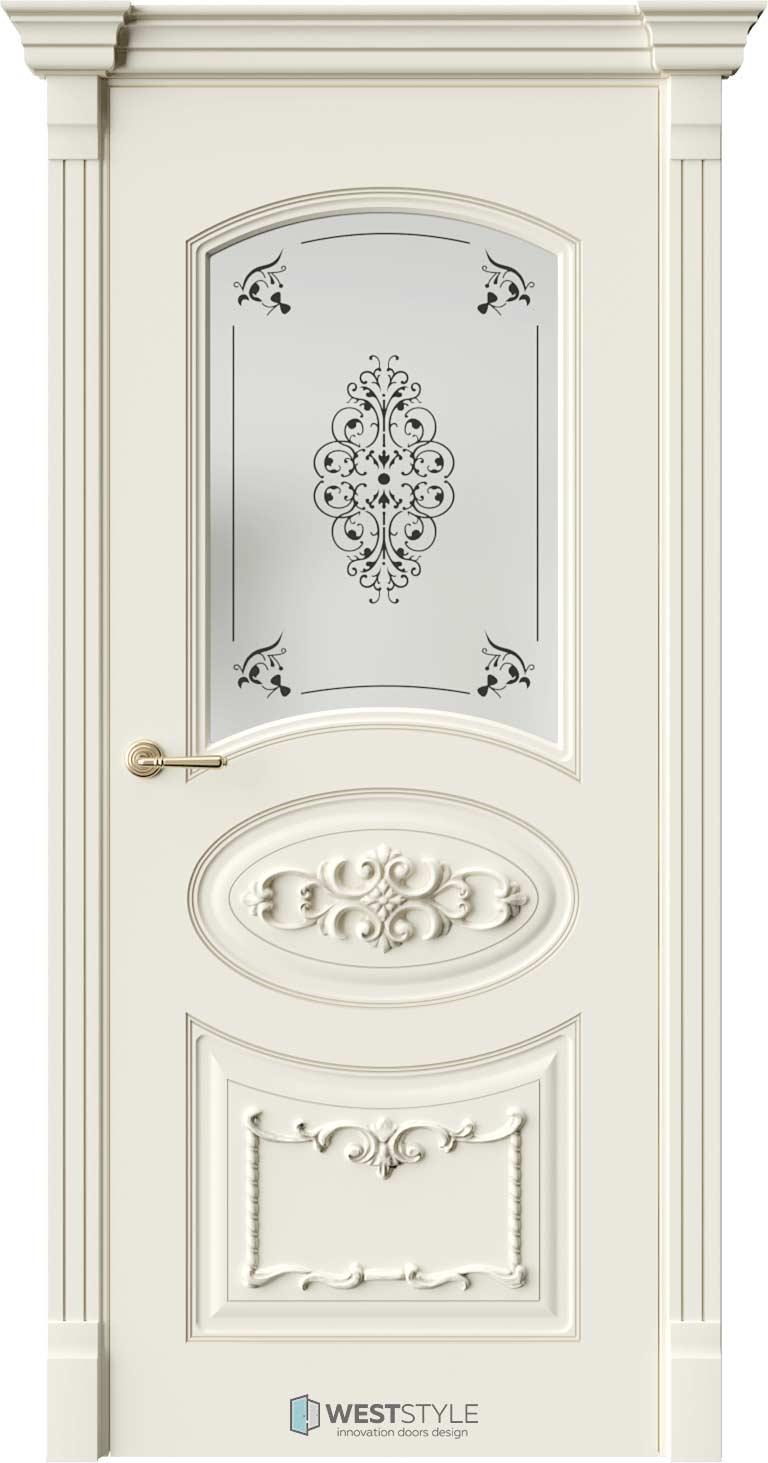 Межкомнатная дверь Межкомнатная дверь Bogacho Лоренцо Ваниль стекло