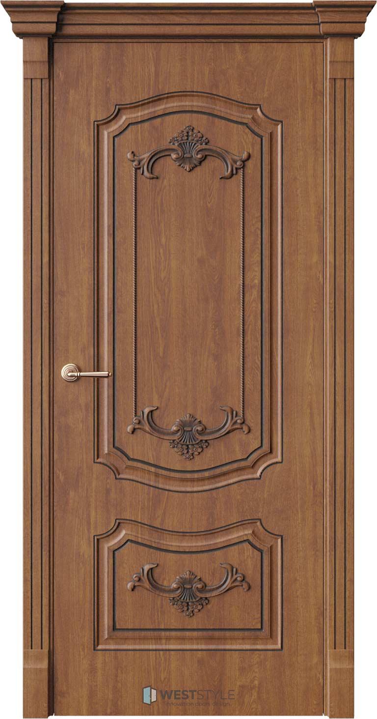 Межкомнатная дверь Межкомнатная дверь Bogacho Мирелла Золотой дуб