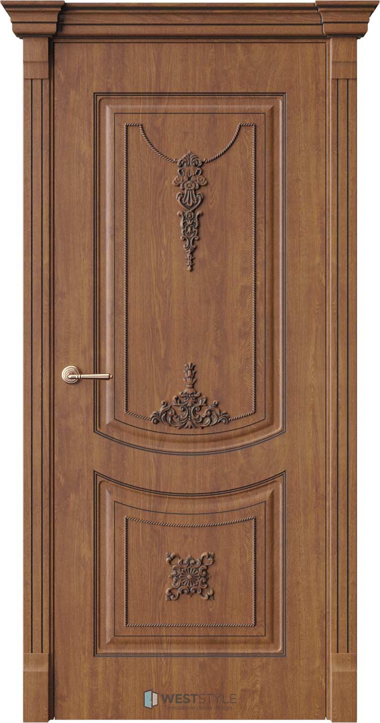 Межкомнатная дверь Межкомнатная дверь Bogacho Одри Золотой дуб