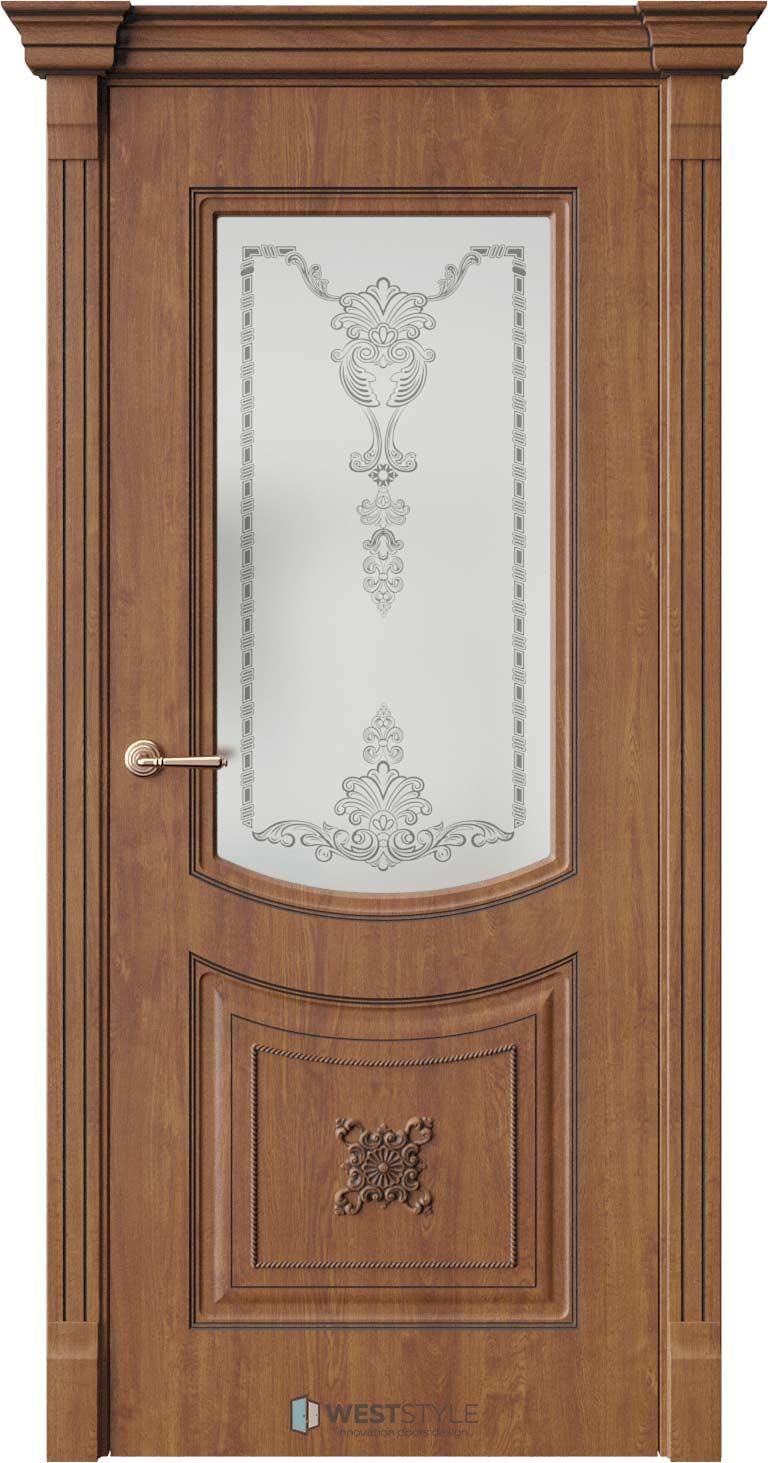 Межкомнатная дверь Межкомнатная дверь Bogacho Одри Золотой дуб стекло