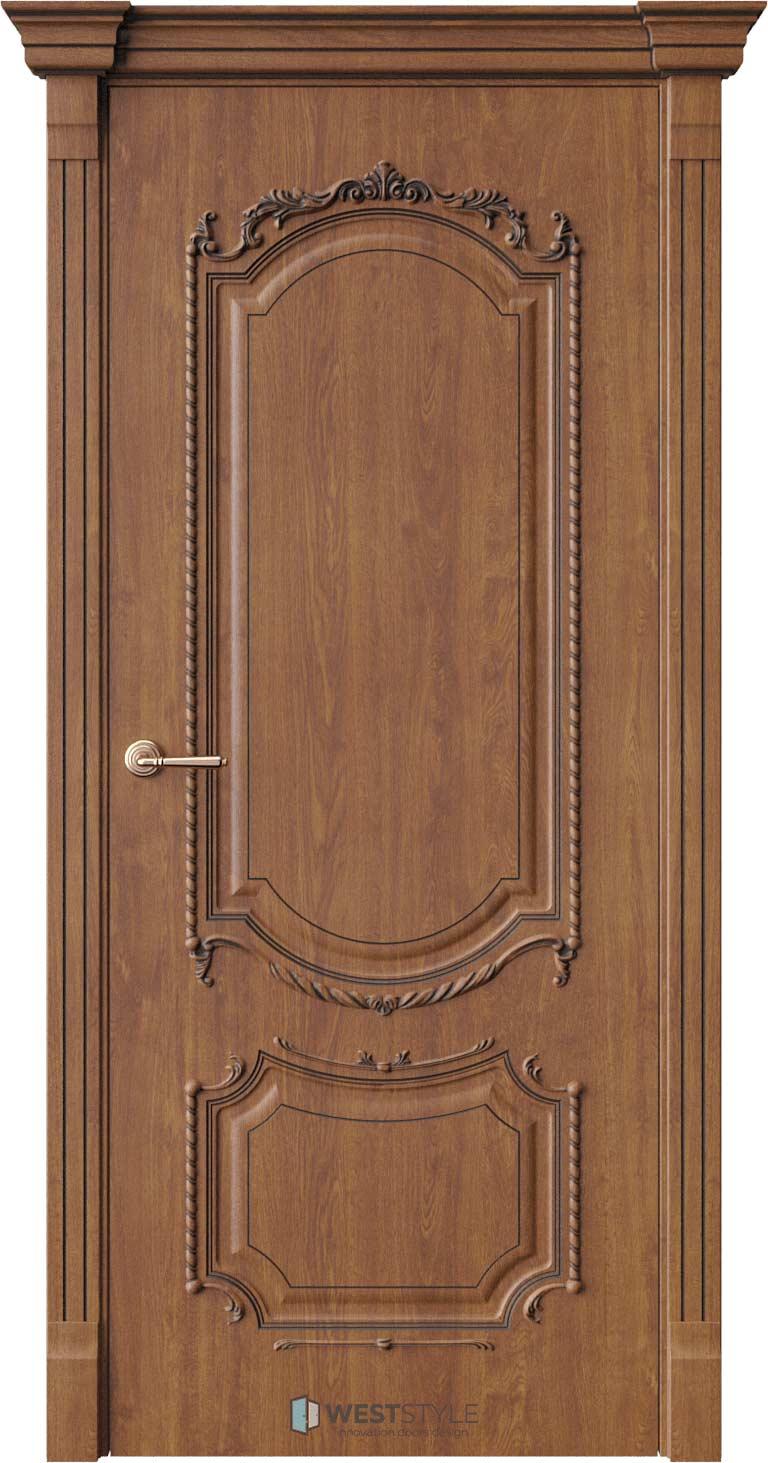 Межкомнатная дверь Межкомнатная дверь Bogacho Винченцо Золотой дуб