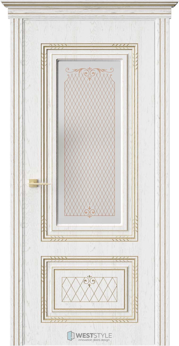 Межкомнатная дверь БРИДЖИТ Дуб Винта стекло