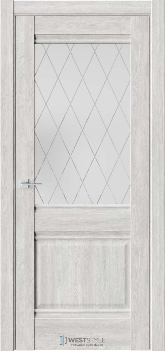 Межкомнатная дверь Ch 6 Дуб Оксфорд стекло 3