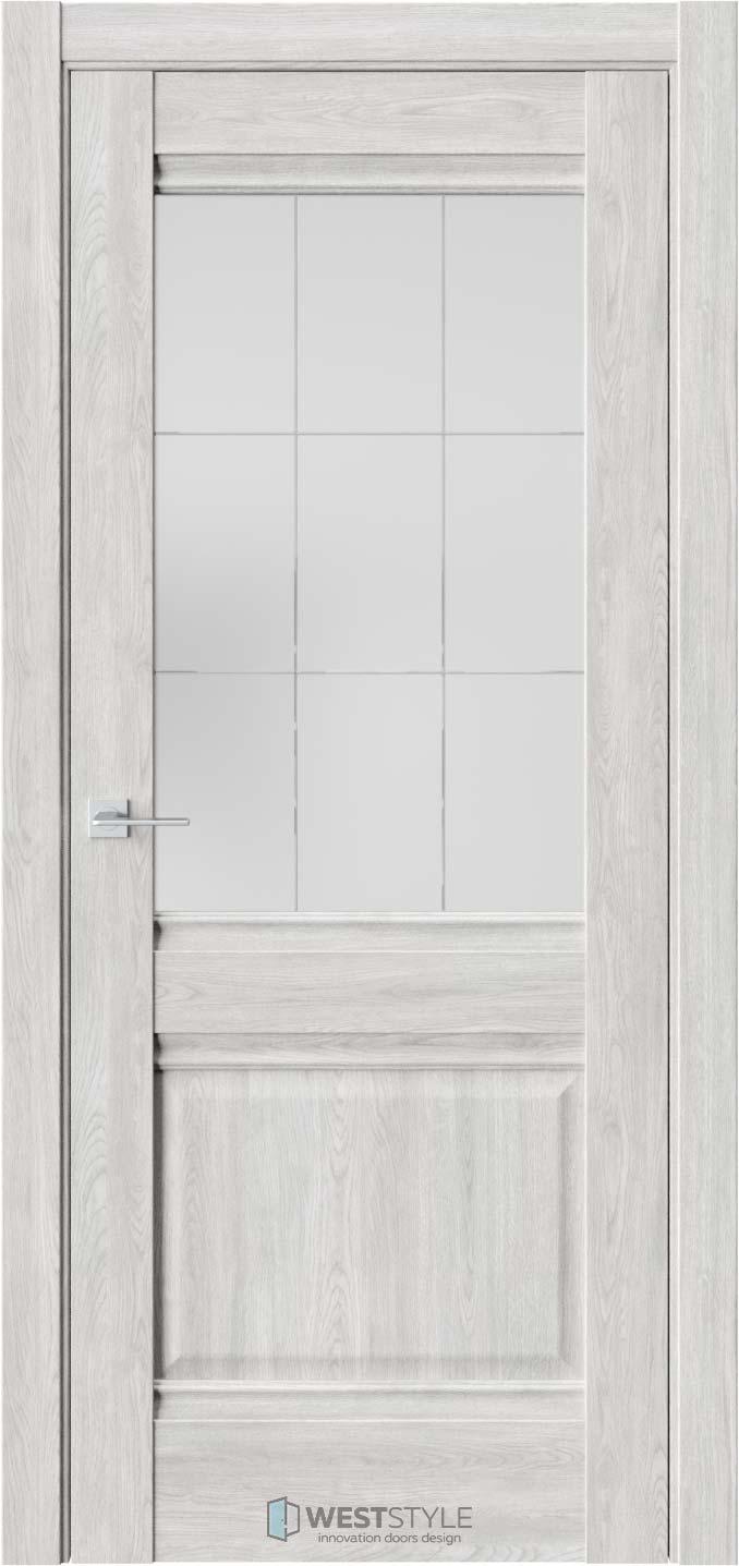 Межкомнатная дверь Ch 6 Дуб Оксфорд стекло 5