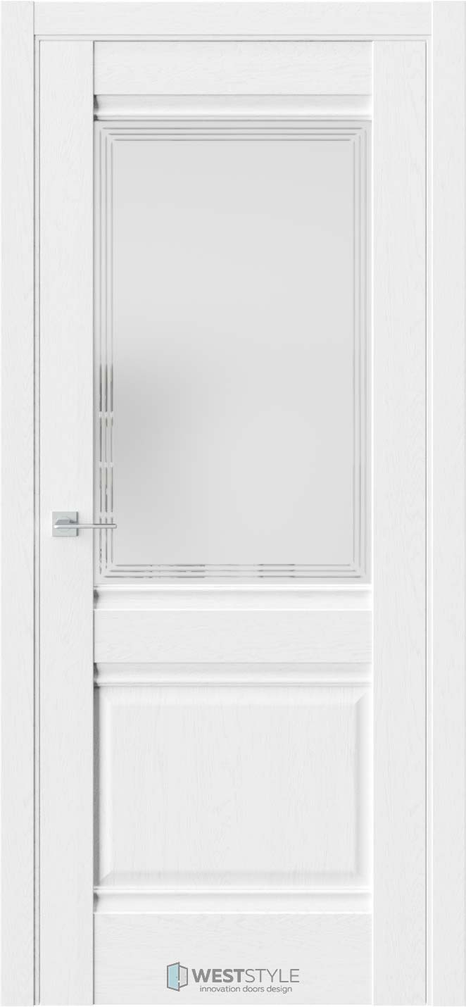 Межкомнатная дверь Ch 6 Дуб Винта стекло 4