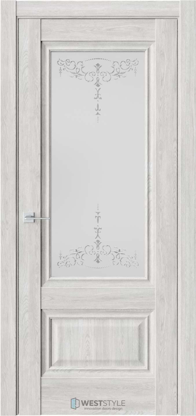 Межкомнатная дверь Ch 8 Дуб Оксфорд стекло 1