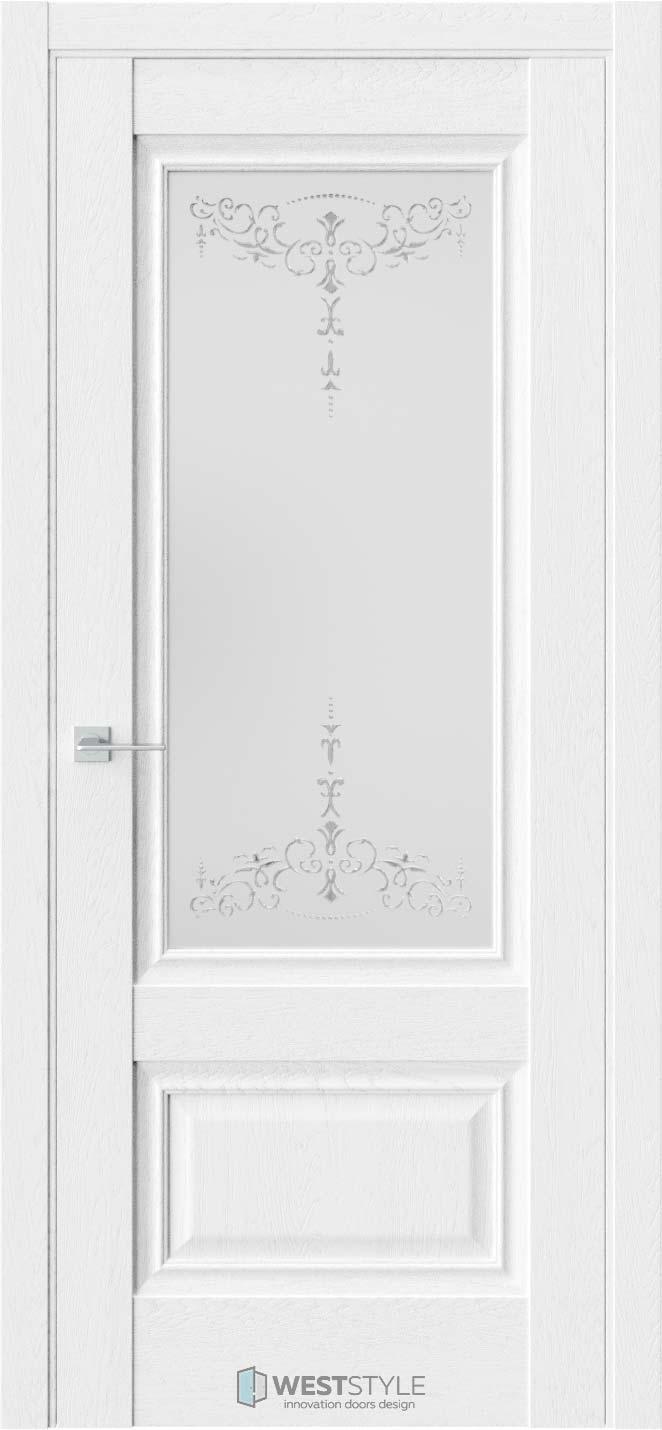 Межкомнатная дверь Ch 8 Дуб Винта стекло 1