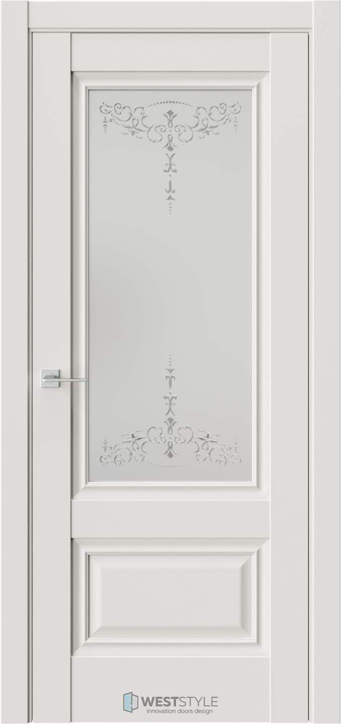Межкомнатная дверь Ch 8 Emlayer Серый стекло 1