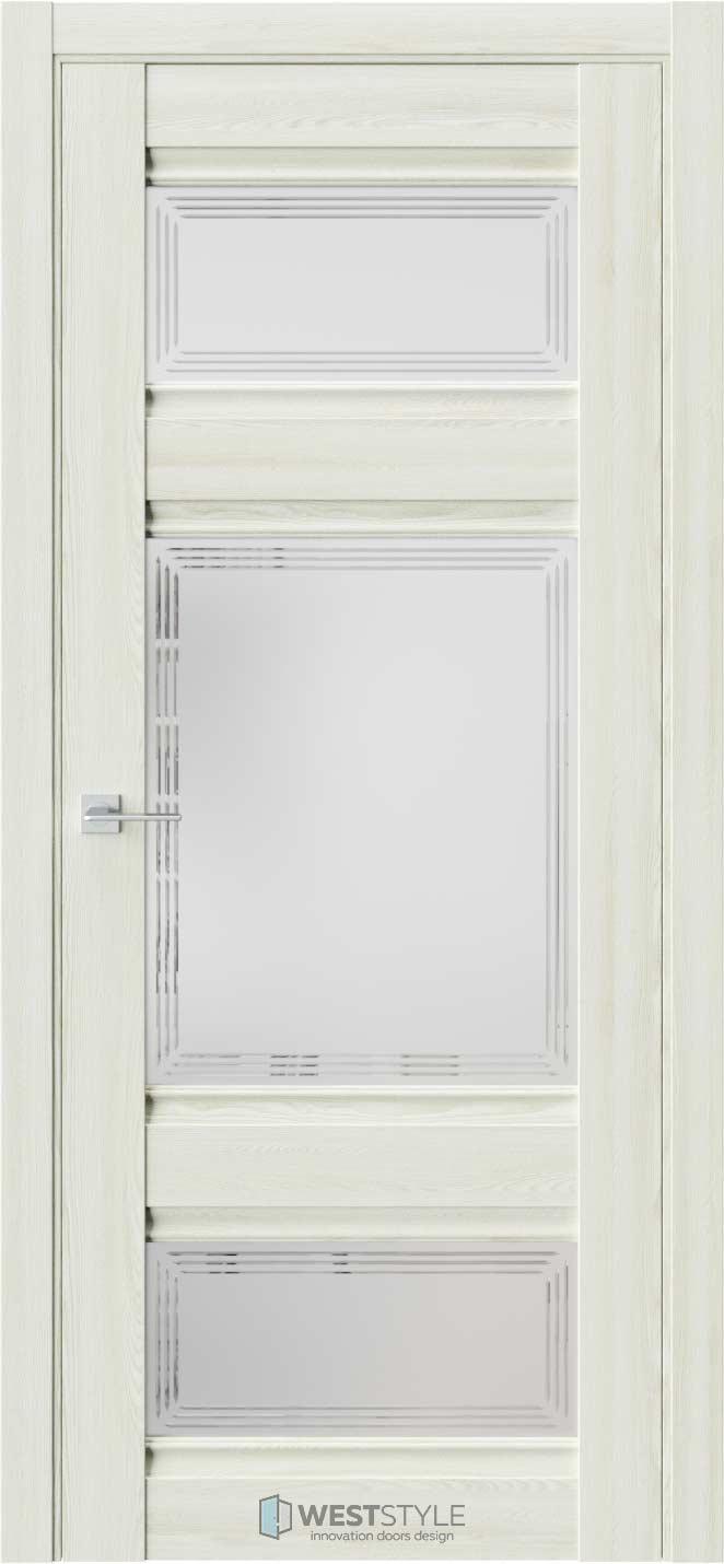 Межкомнатная дверь ChE 10 Клён Крем стекло 4
