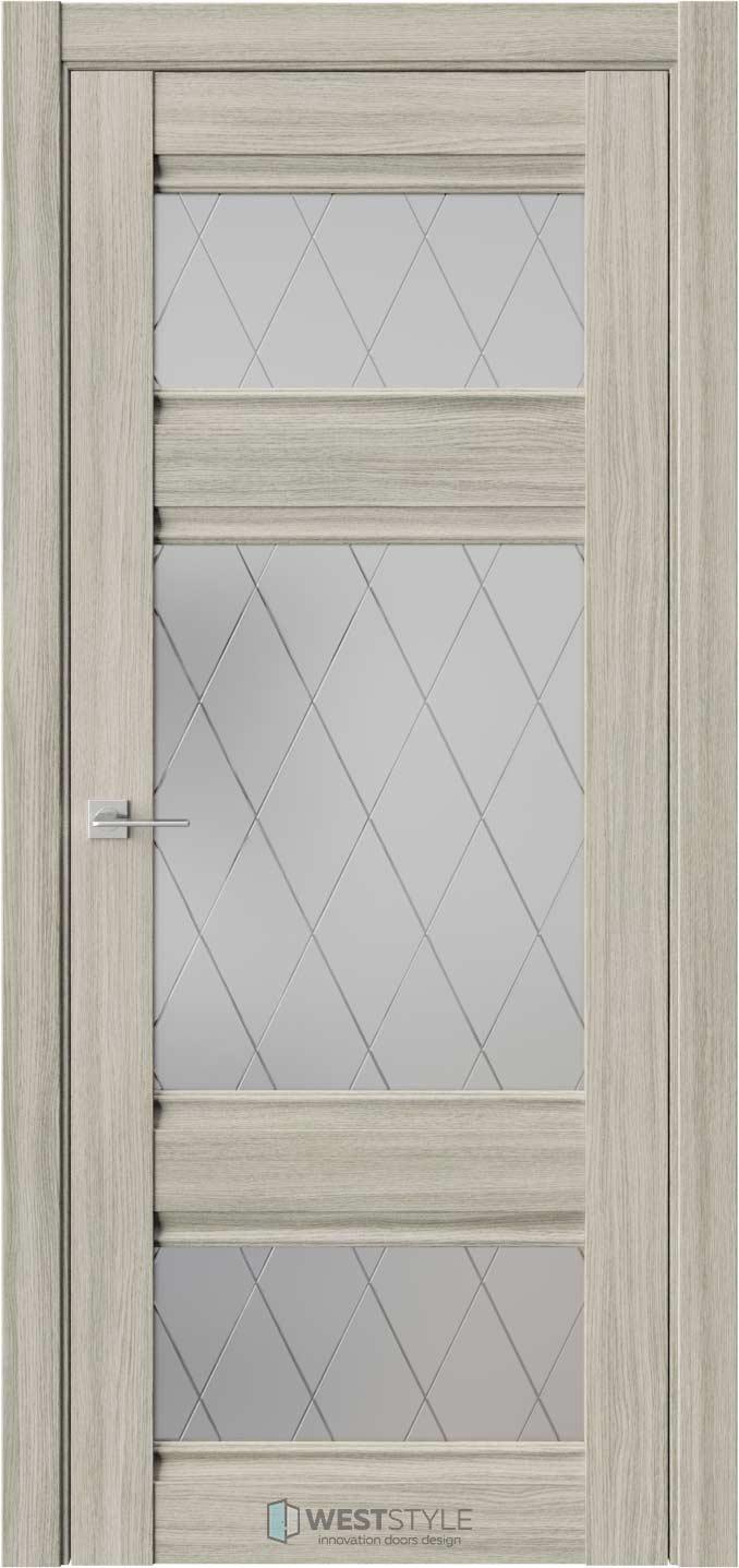 Межкомнатная дверь ChE 10 Вудекс Скальный стекло 1