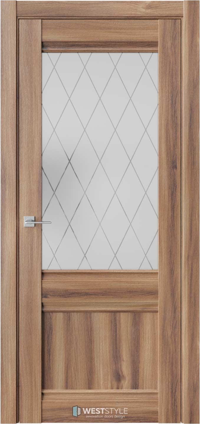 Межкомнатная дверь ChE 6 Онтарио стекло 2