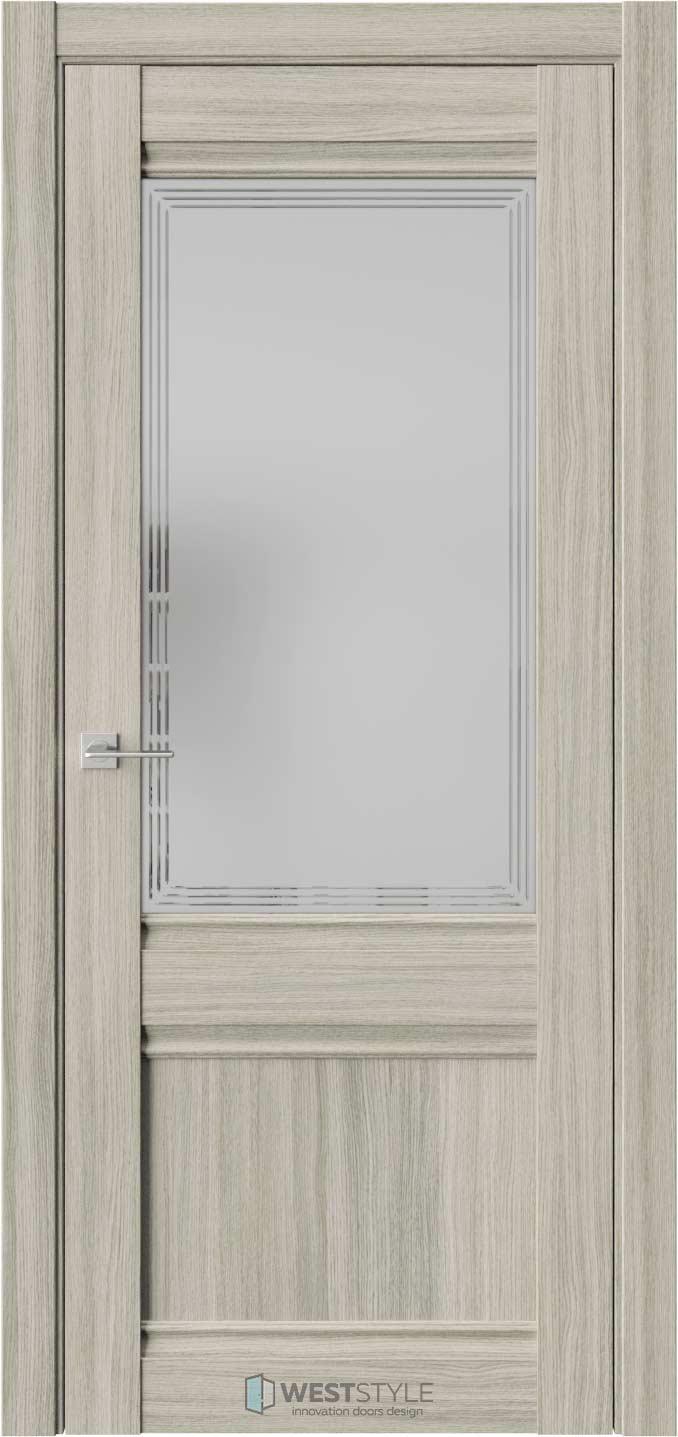 Межкомнатная дверь ChE 6 Вудекс Скальный стекло 4