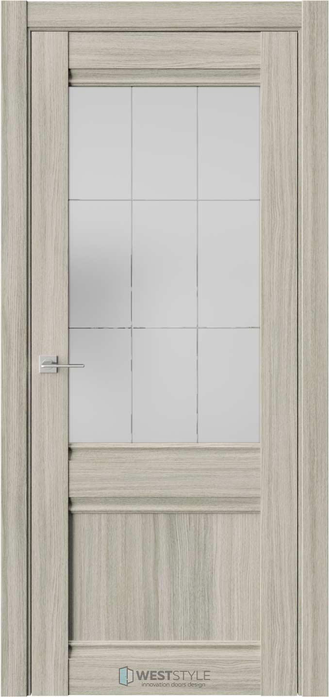Межкомнатная дверь ChE 6 Вудекс Скальный стекло 5