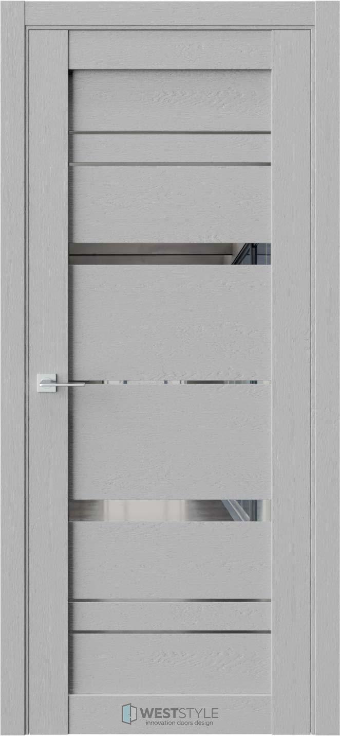 Межкомнатная дверь CZ 2 Интенсо стекло-зеркало графит