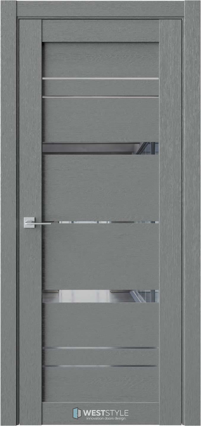 Межкомнатная дверь CZ 2 Сильвер стекло-зеркало