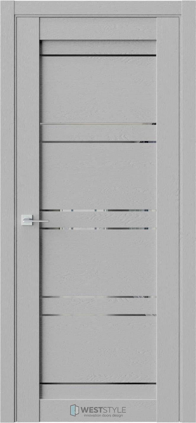 Межкомнатная дверь CZ 3 Интенсо стекло-зеркало графит