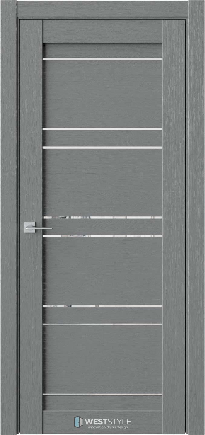 Межкомнатная дверь CZ 3 Сильвер стекло-зеркало