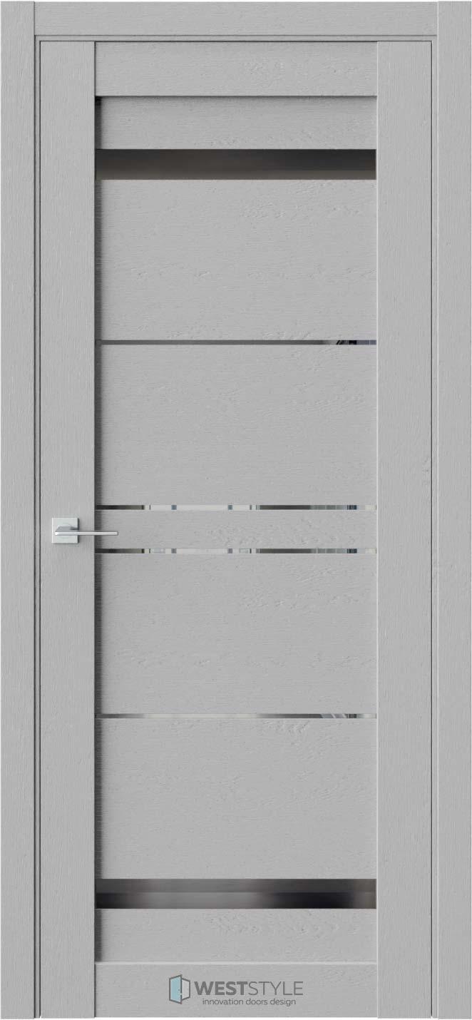 Межкомнатная дверь CZ 4 Интенсо стекло-зеркало графит