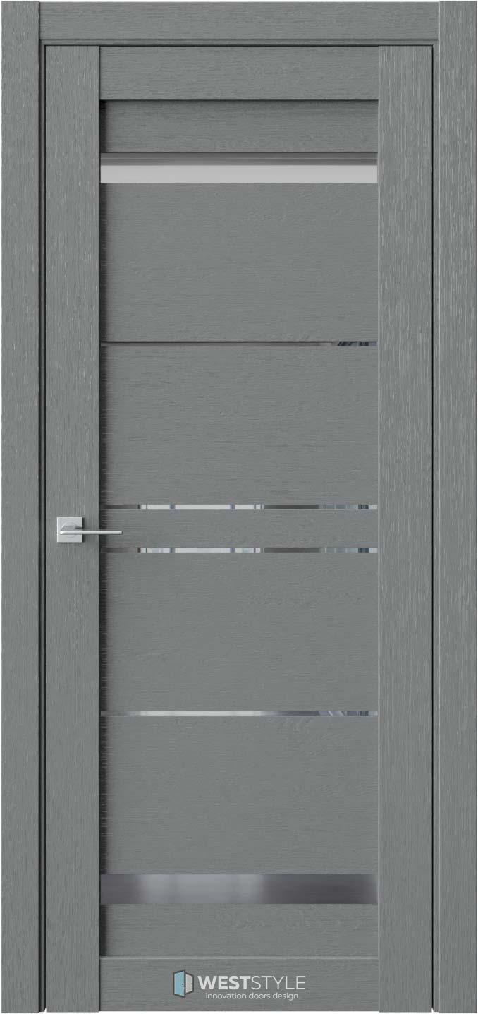 Межкомнатная дверь CZ 4 Сильвер стекло-зеркало
