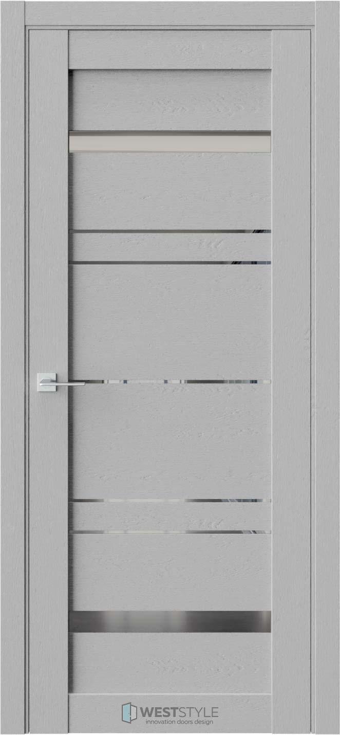 Межкомнатная дверь CZ 5 Интенсо стекло-зеркало графит