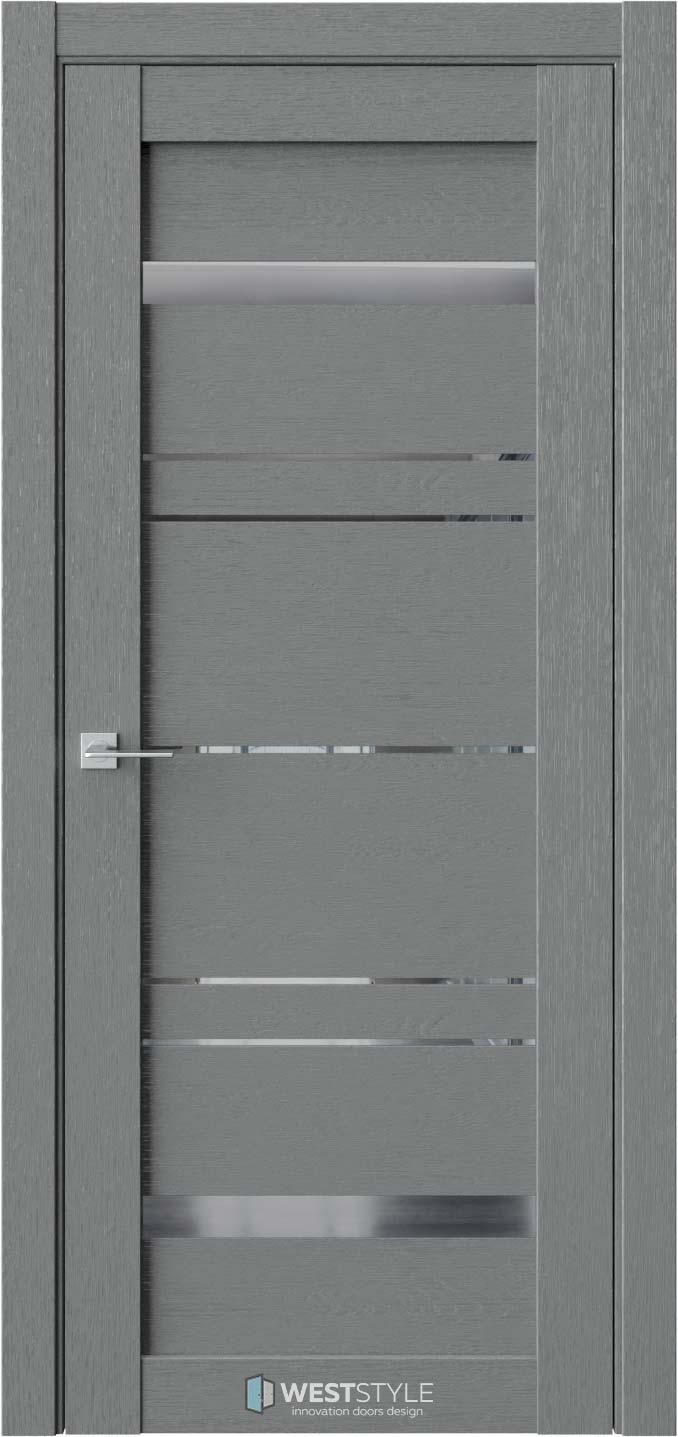 Межкомнатная дверь CZ 5 Сильвер стекло-зеркало