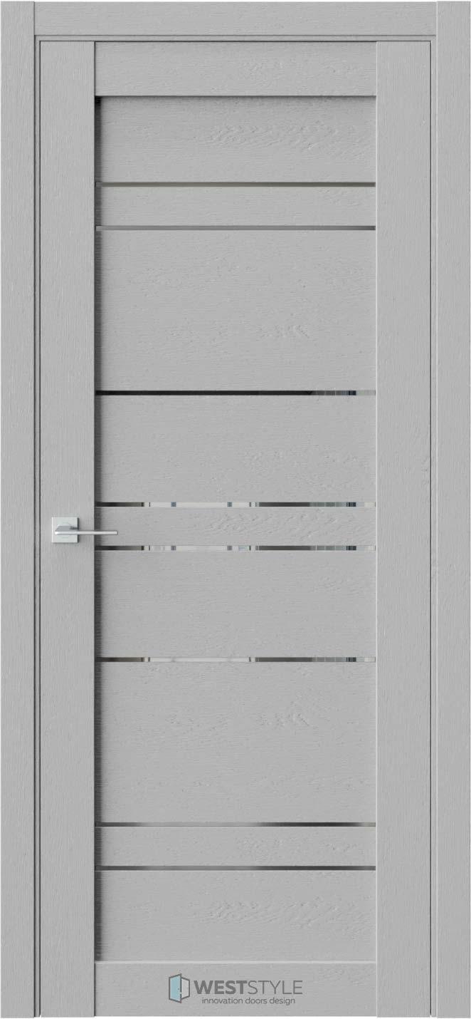 Межкомнатная дверь CZ 6 Интенсо стекло-зеркало графит