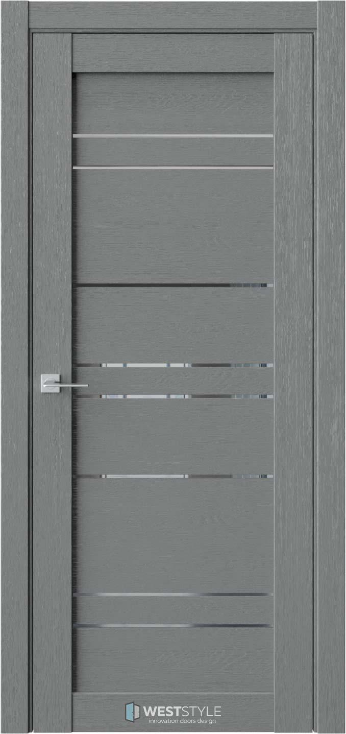 Межкомнатная дверь CZ 6 Сильвер стекло-зеркало