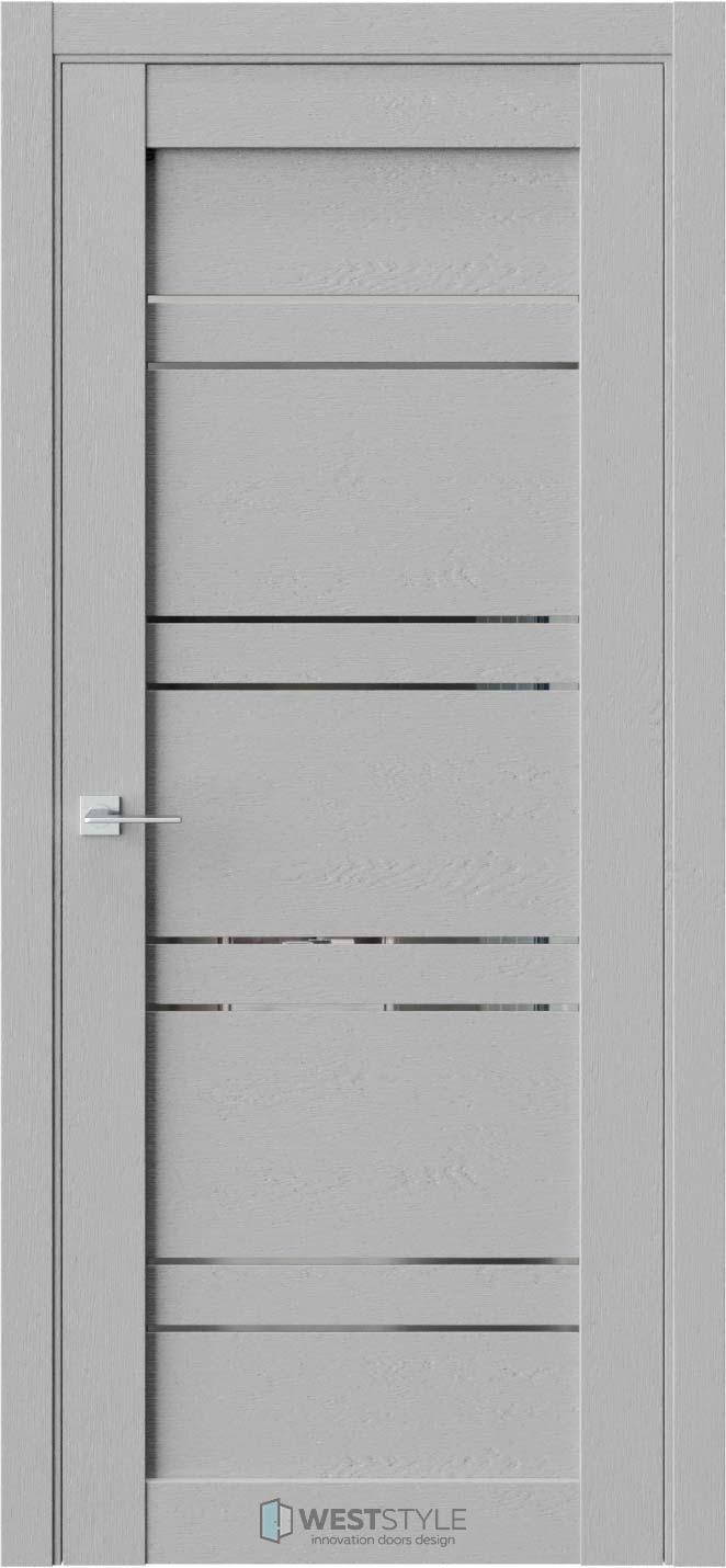 Межкомнатная дверь CZ 7 Интенсо стекло-зеркало графит