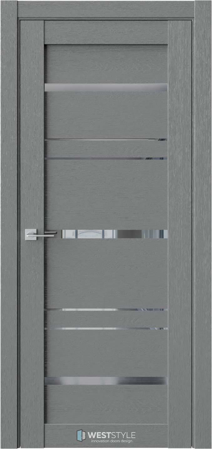 Межкомнатная дверь CZ 8 Сильвер стекло-зеркало