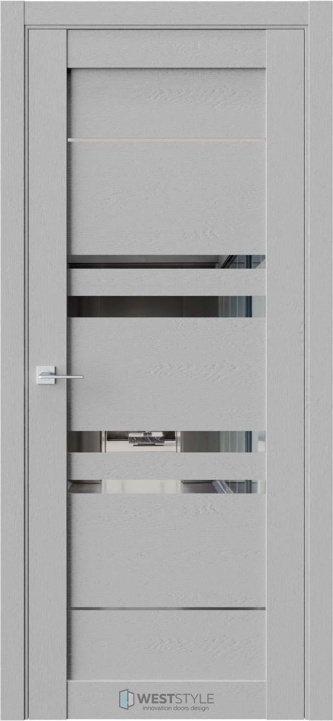 Межкомнатная дверь CZ 9 Интенсо стекло-зеркало графит