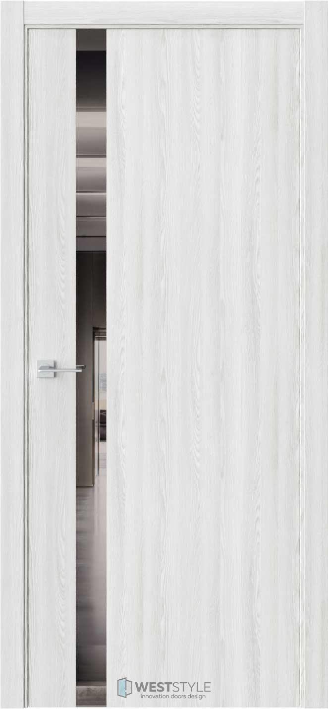 Межкомнатная дверь ЭКЗОТИКА 10E Клён Айс стекло-зеркало