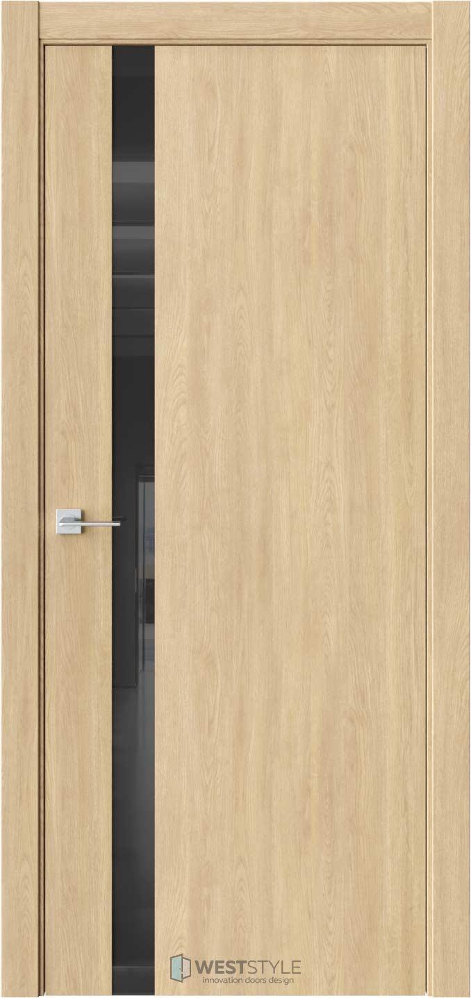 Межкомнатная дверь ЭКЗОТИКА 10E Сенди черное стекло