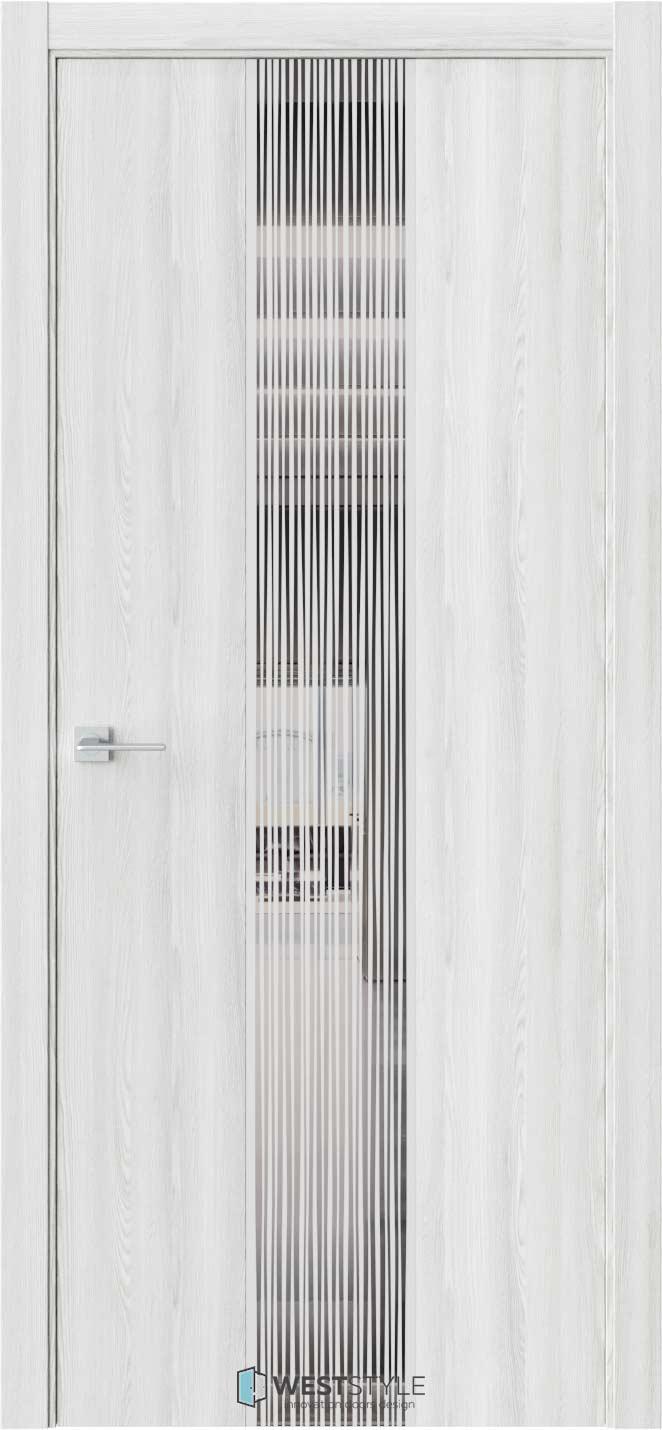 Межкомнатная дверь ЭКЗОТИКА 6E Клён Айс стекло-зеркало