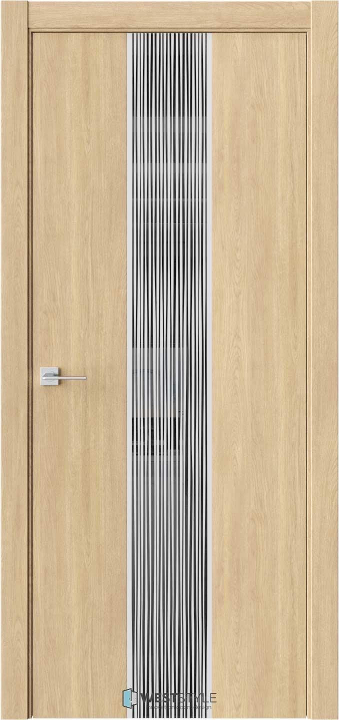Межкомнатная дверь ЭКЗОТИКА 6E Сенди черное стекло