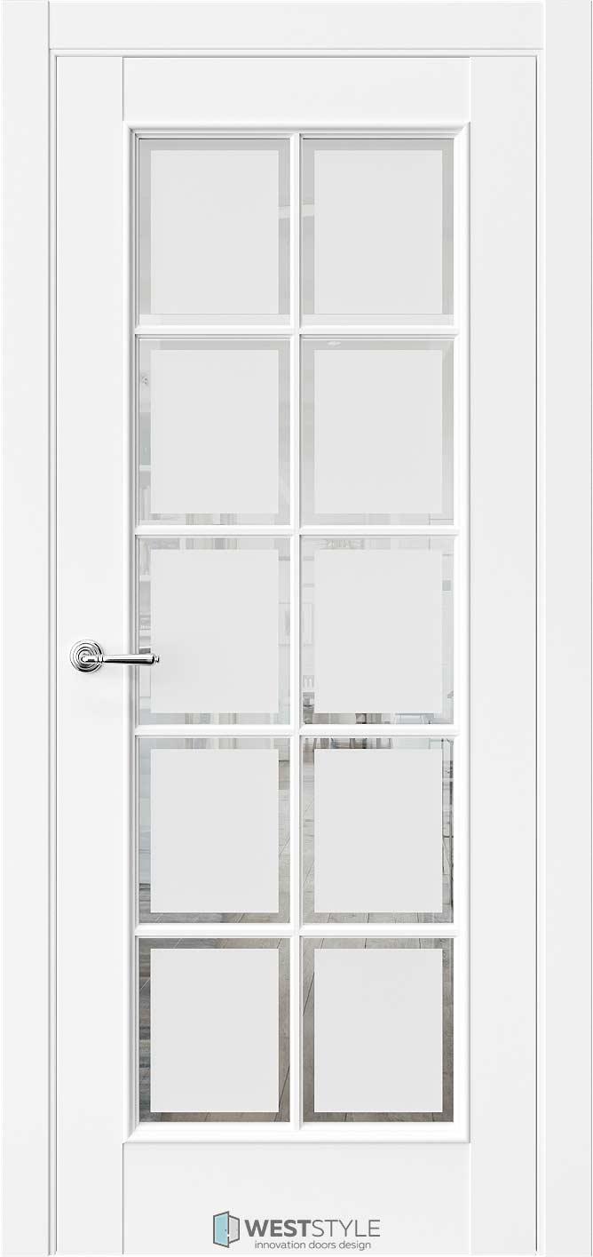 Межкомнатная дверь Межкомнатная дверь En 2 Emlayer белый стекло 1