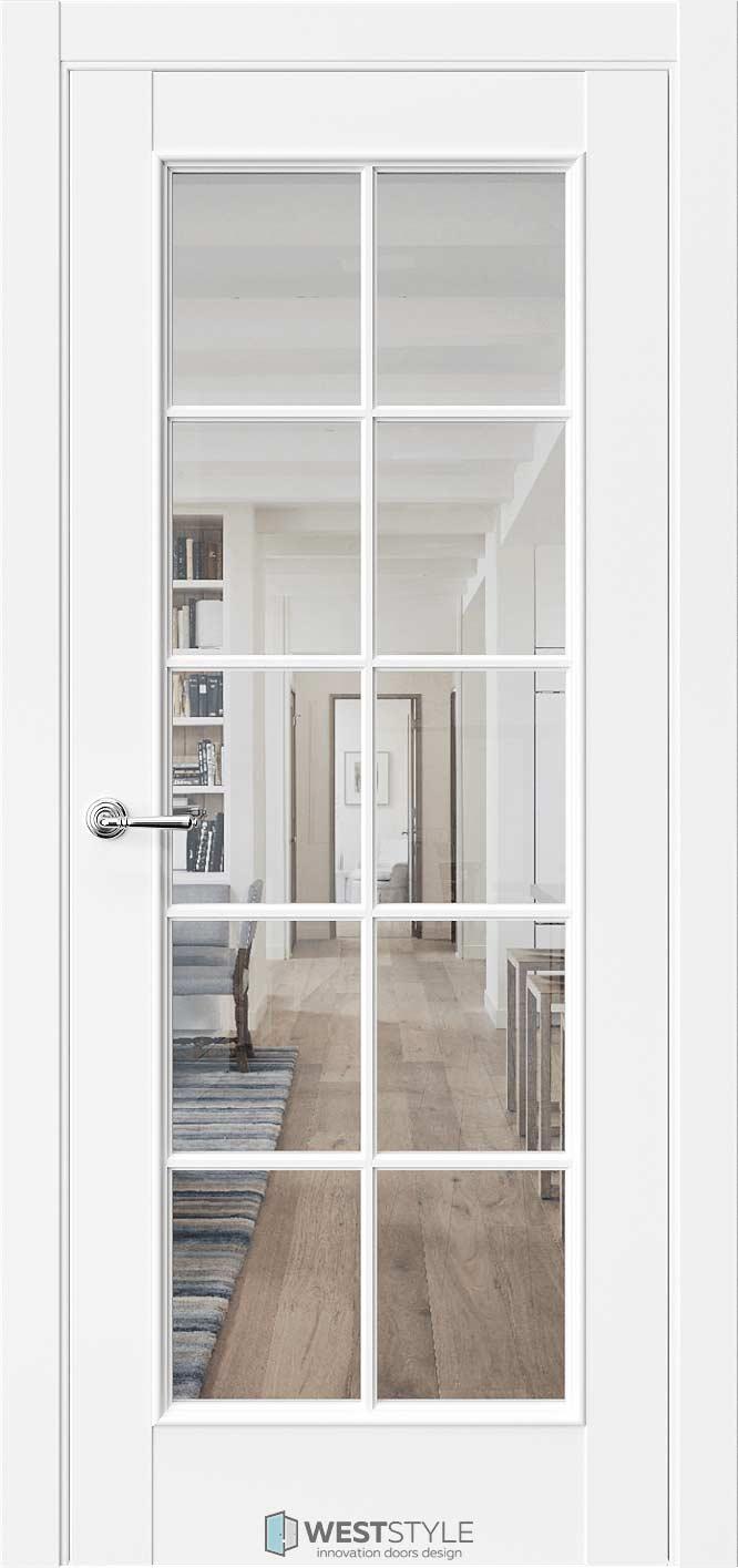 Межкомнатная дверь Межкомнатная дверь En 2 Emlayer белый стекло 2