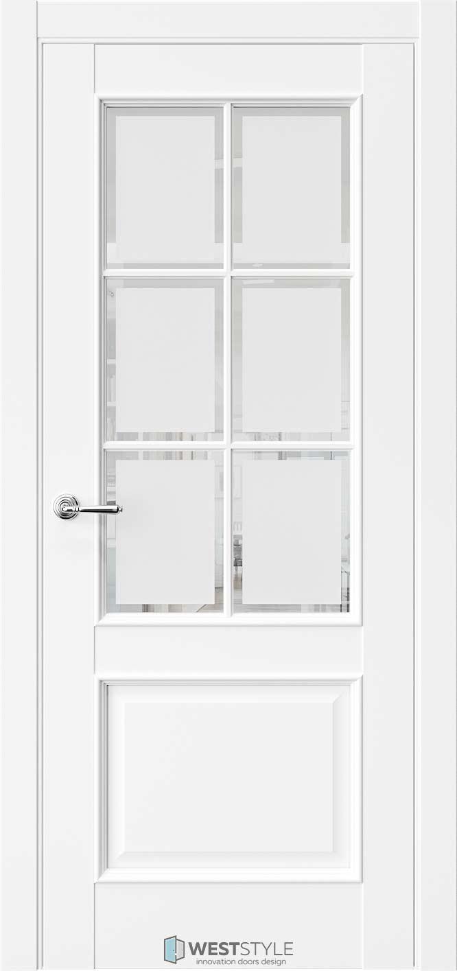 Межкомнатная дверь Межкомнатная дверь En 6 Emlayer белый стекло 1