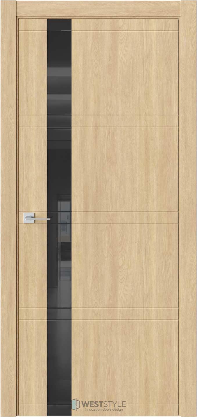 Межкомнатная дверь EVO 1 Сенди черное стекло