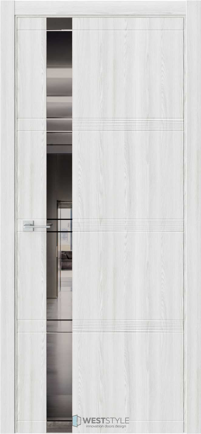 Межкомнатная дверь EVO 1D Клён Айс стекло-зеркало