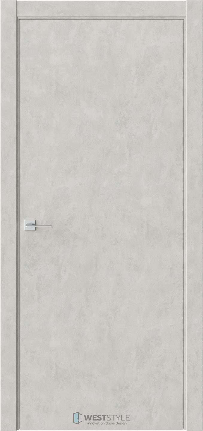 Межкомнатная дверь ГЛАДКОЕ Бетон Смоки