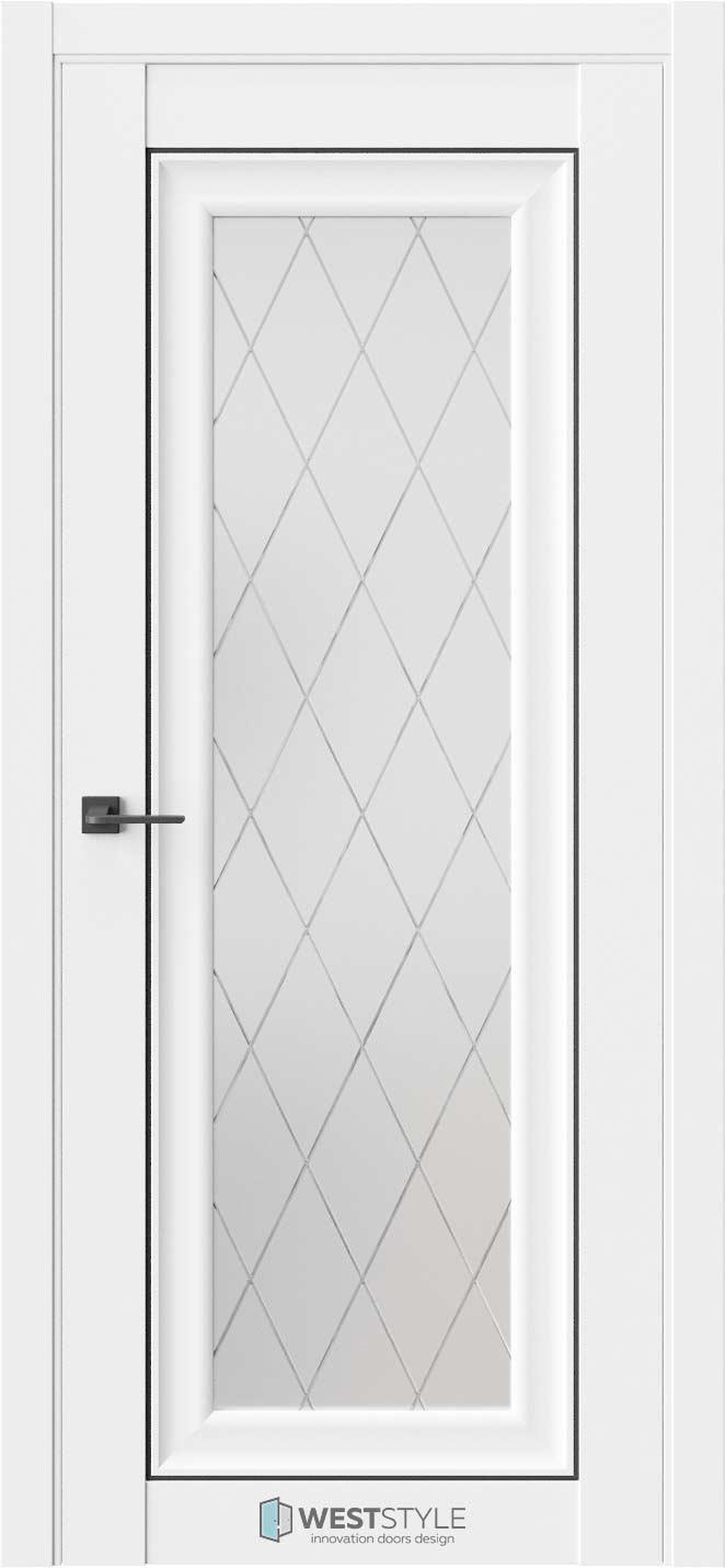 Межкомнатная дверь Межкомнатная дверь Hr 2 Emlayer белый черный молдинг стекло 2