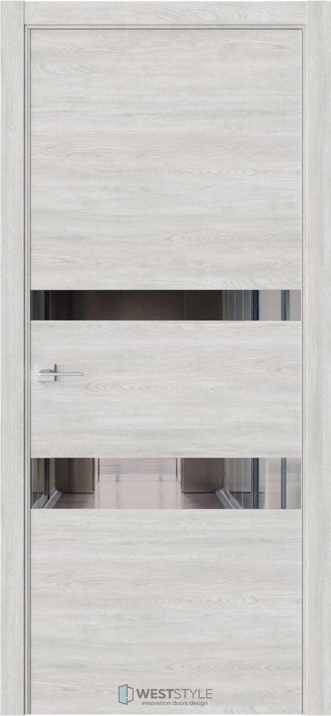 Межкомнатная дверь IN 16 Дуб Оксфорд стекло-зеркало графит