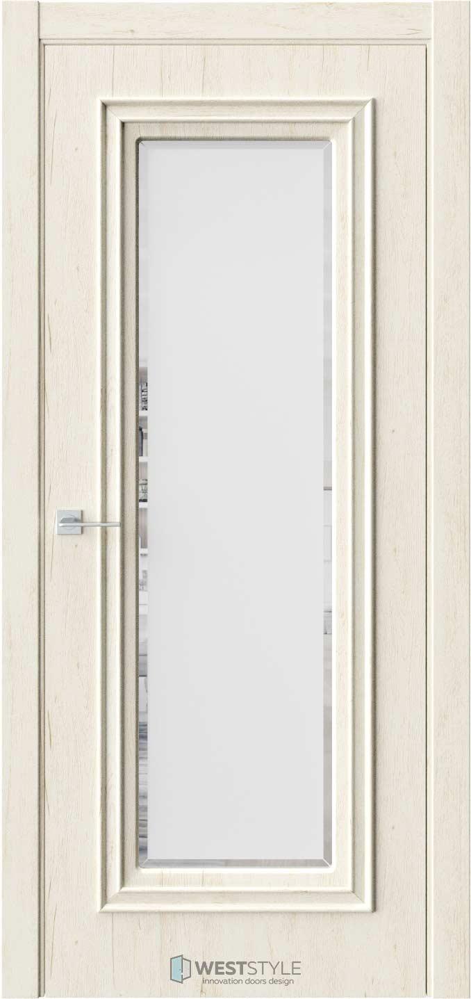 Межкомнатная дверь KB 2 Дуб Джентл стекло 1