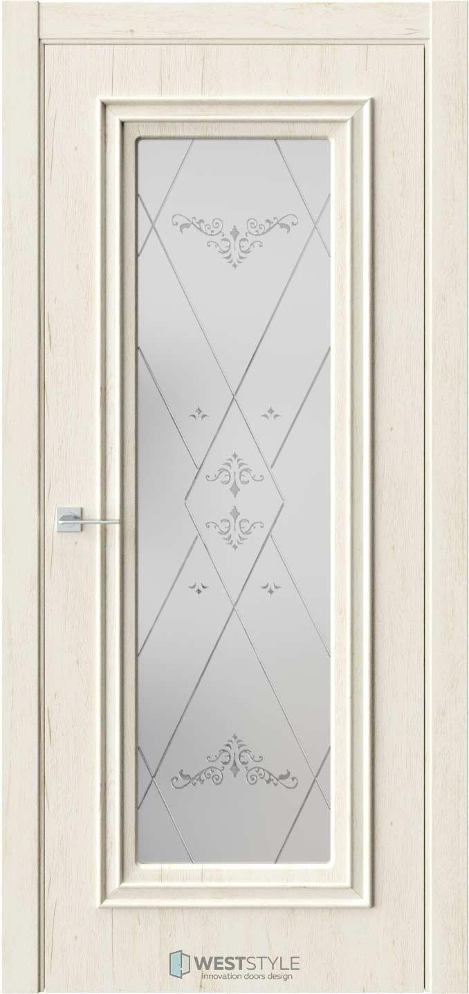 Межкомнатная дверь KB 2 Дуб Джентл стекло 3