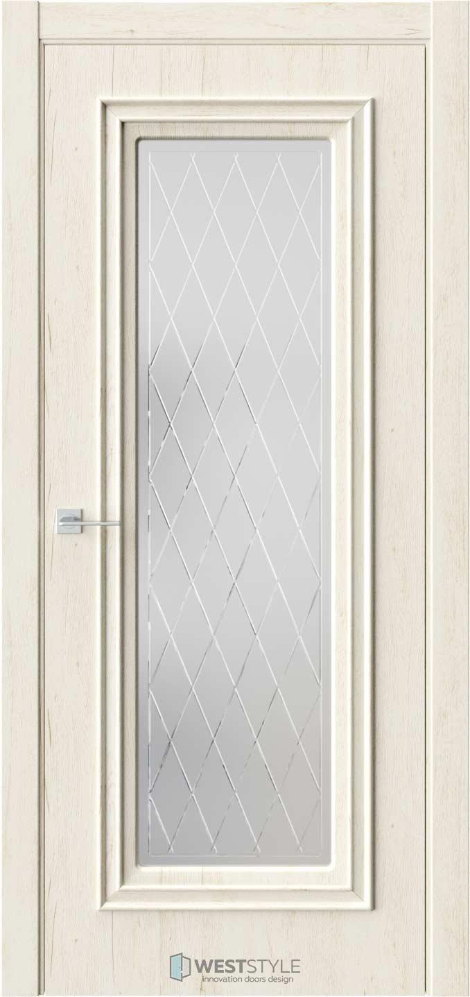 Межкомнатная дверь KB 2 Дуб Джентл стекло 2