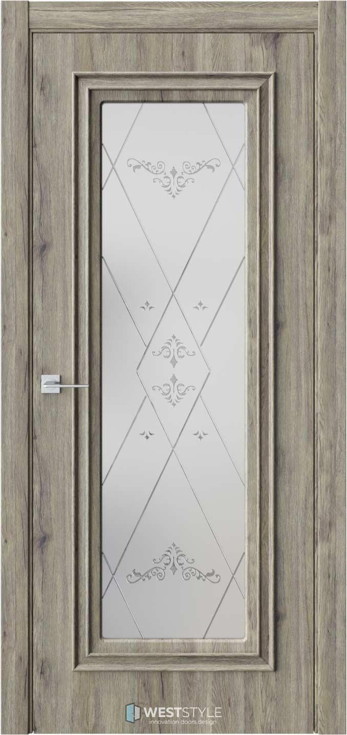 Межкомнатная дверь KB 2 Дуб Эссе стекло 3