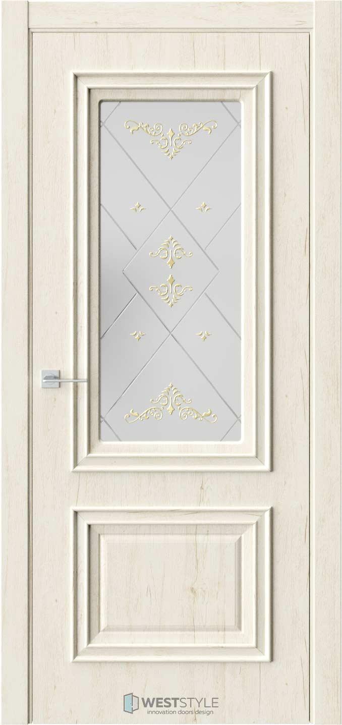 Межкомнатная дверь KB 4 Дуб Джентл стекло 3