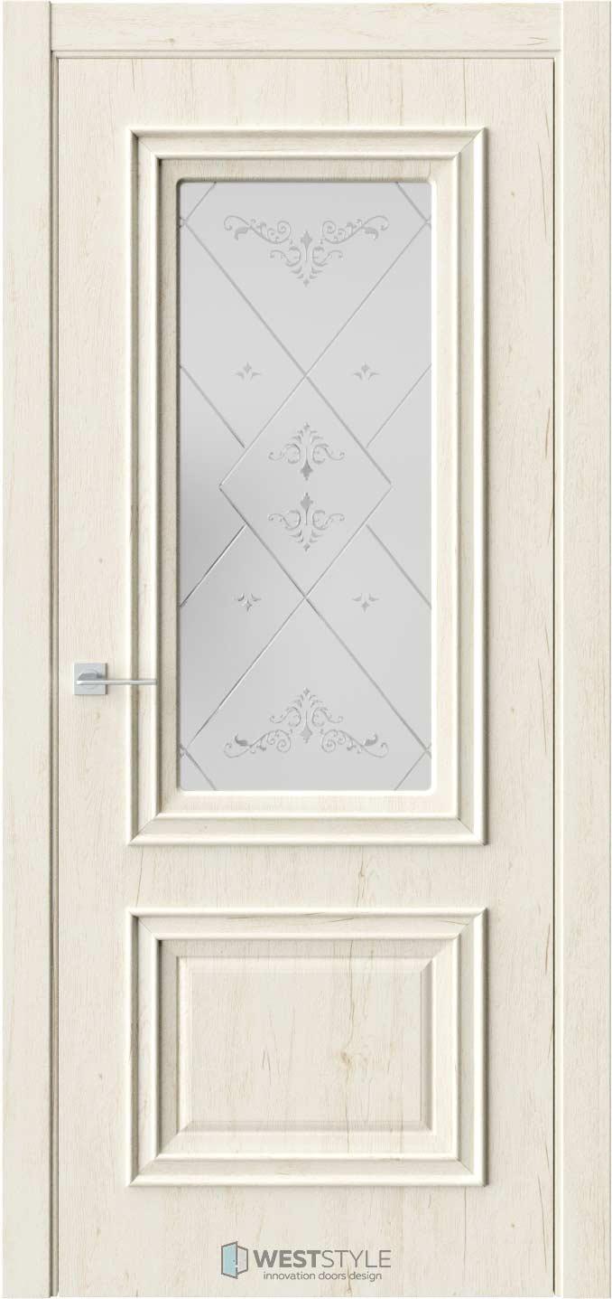 Межкомнатная дверь KB 4 Дуб Джентл стекло 4
