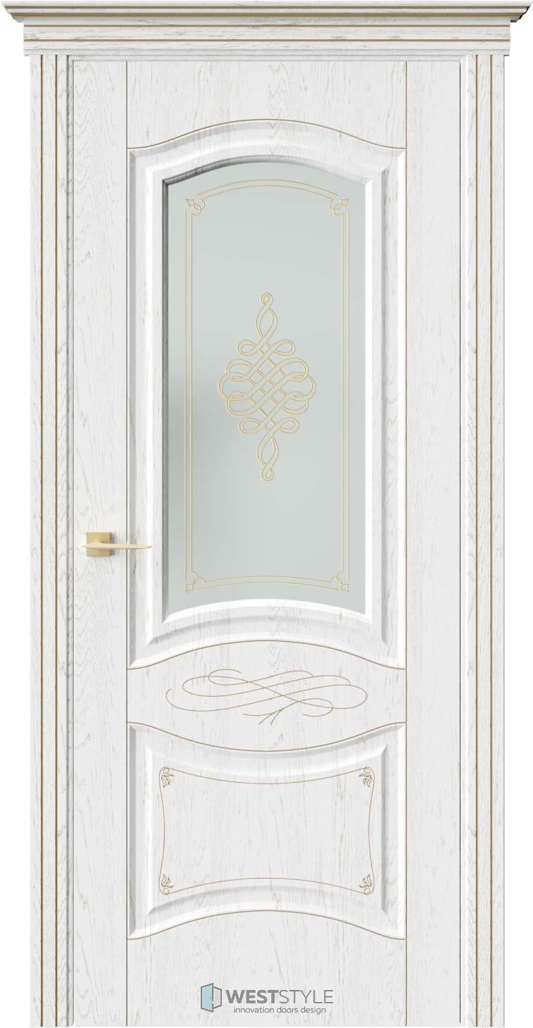 Межкомнатная дверь ЛАУРА Дуб Винта стекло
